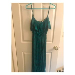 Flowy teal Forever 21 maxi dress